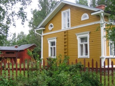 Old and yellow house