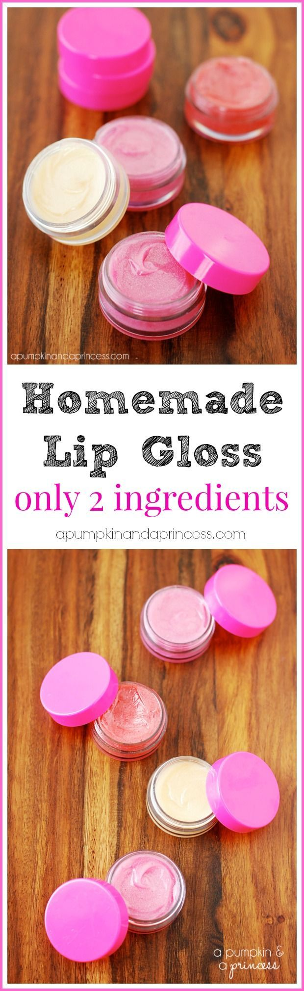 DIY Lip Gloss Tutorial - great stocking stuffer idea!