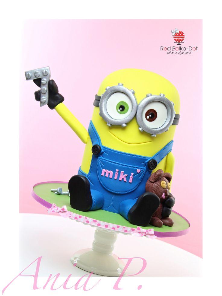 Minion Bob cake, by Red Polka-Dot Designs