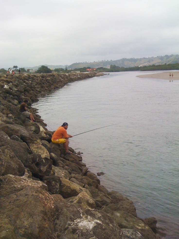 Desembocadura #tonsupa #river #fisherman
