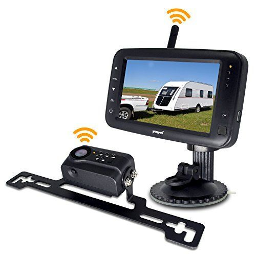 Wireless Backup Camera System, IP69k Waterproof Wireless License Plate Rear View Camera, Night Vision and 4.3 inch Wireless Monitor for Trailer, RV, Trucks, Pickup Trucks, Cargo Vans, etc. For product info go to: https://www.caraccessoriesonlinemarket.com/wireless-backup-camera-system-ip69k-waterproof-wireless-license-plate-rear-view-camera-night-vision-and-4-3-inch-wireless-monitor-for-trailer-rv-trucks-pickup-trucks-cargo-vans-etc/