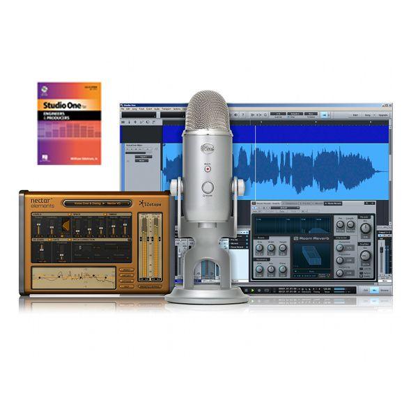 Home Recording With Studio Blue Microphones Yeti Bundle | musicmachineshop.com