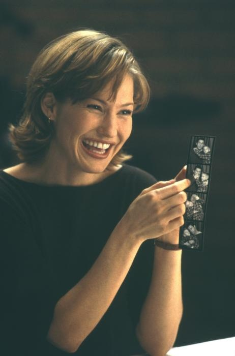 Joey Lauren Adams, Born and Raised in Little Rock! - Holding Photo Negatives - love her hair : )