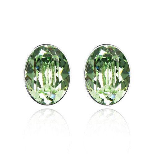 Мода ювелирные изделия ясные глаза высокое качество австрийский хрусталь оливковое кристалл круглые серьги