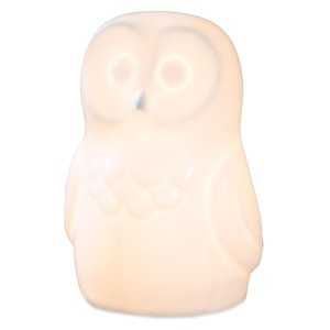 Owl Lamp White