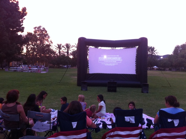 Outdoor inflatable movie screen rental that is good for