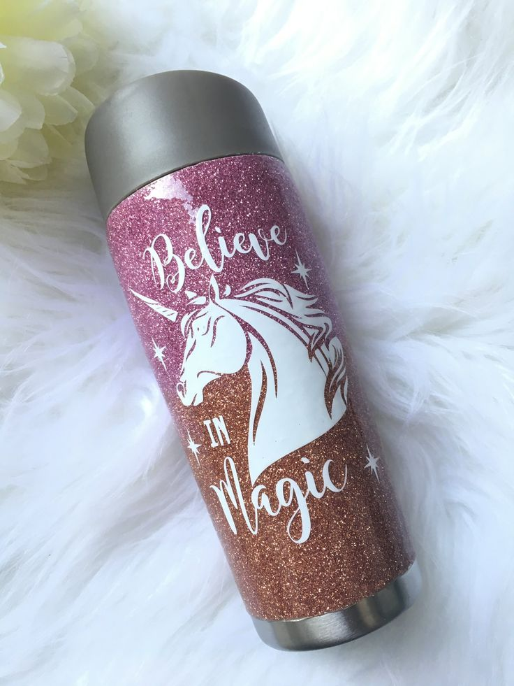 Unicorn Travel Mug  / Glitter Tumbler / Travel Mug / Coffee Mug / Personalised Travel Mug / Custom Travel mug by LandAbespoke on Etsy