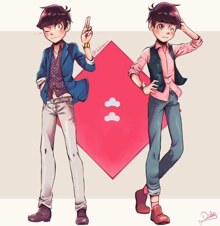 Karamatsu and Todomatsu by didimoons