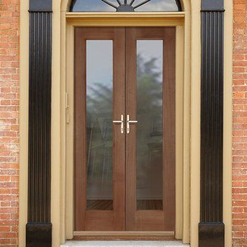Exterior Double French Doors, Pattern 20 Hardwood Pair - Fit Your Own Glass