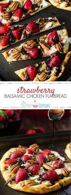 Strawberry Balsamic Chicken Flatbread #SundaySupper with #FLStrawberry