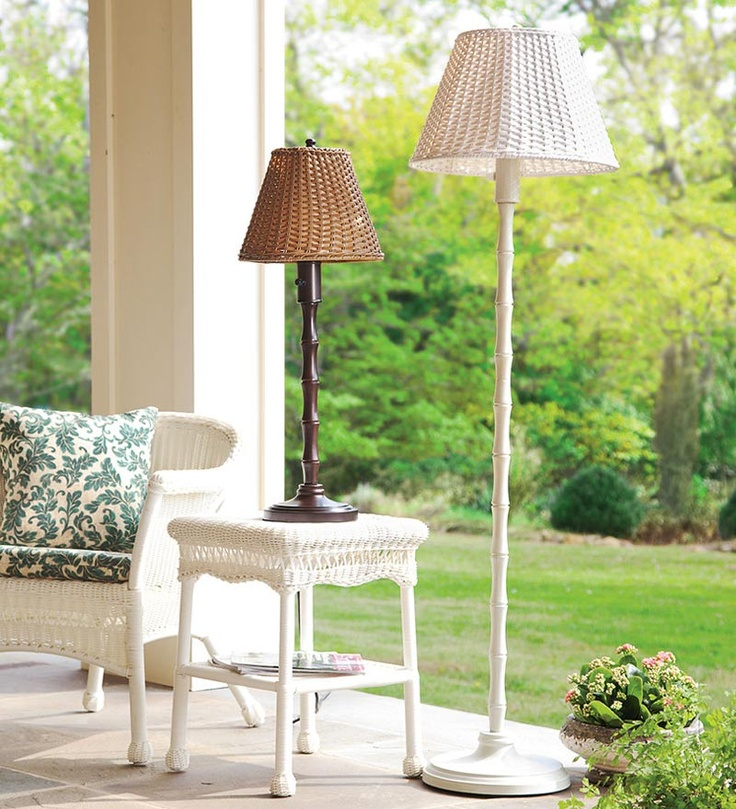 These All Weather Outdoor Rattan Wicker Lamps Look Like Indoor Decor And  Perform Like All. Wicker FurnitureOutdoor ...