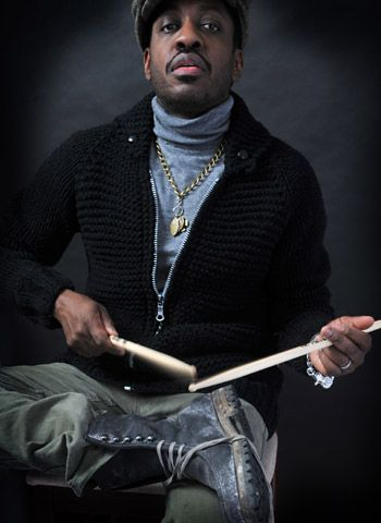 Steve Jordan. You drum whenever you can, wherever you can, and on whatever you can. ;)
