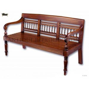 Classic Mahogany Patio Garden Bench Antique Reproduction