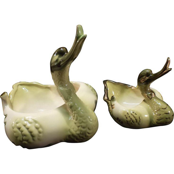 Swan Planters - 1950'e era