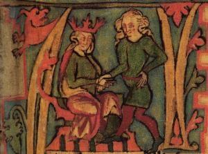 Vikingerne blev typisk 40-50 år gamle. Men der findes også eksempler på overklassevikinger, som blev ældre, f.eks. Harald Hårfager, der var norsk konge i mere end 60 år. (Billede af kong Harald fra det islandske manuskript Flateyjarbók fra det 14. århundrede