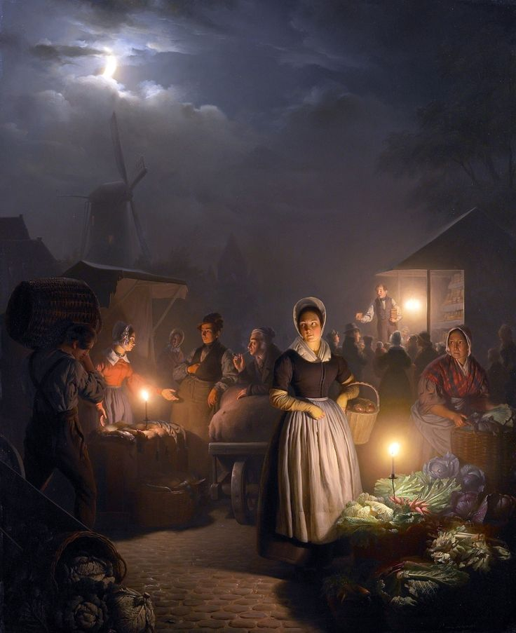 A painting by Petrus van Schendel (Dutch, 1806-1870)