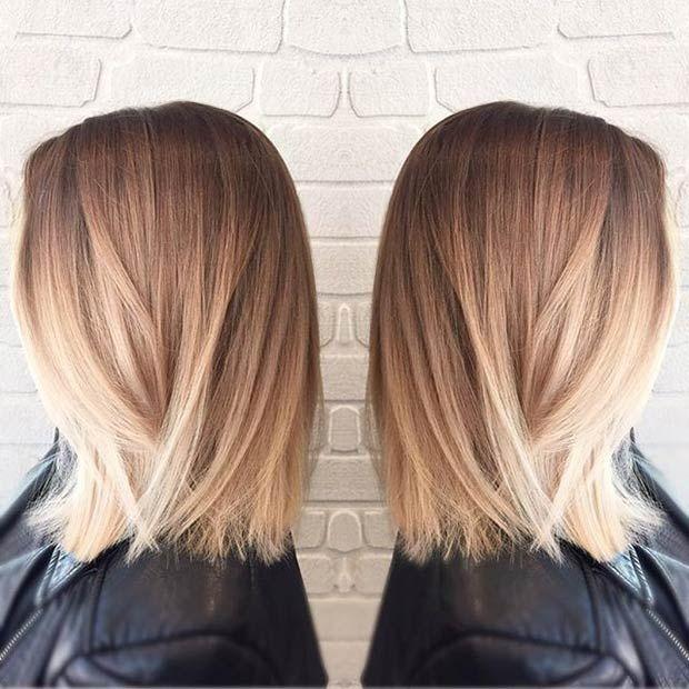 Instagram / hairbykaitlinjade - straight bob + blonde balayage
