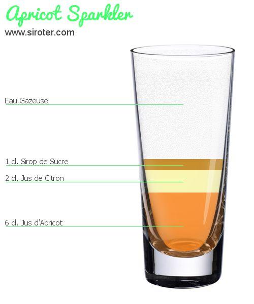 Recette Cocktail APRICOT SPARKLER                                                                                                                                                     Plus