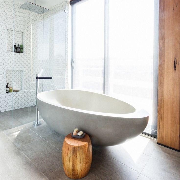 Kyal and Kara Main Bathroom - Mark Tuckey Stool