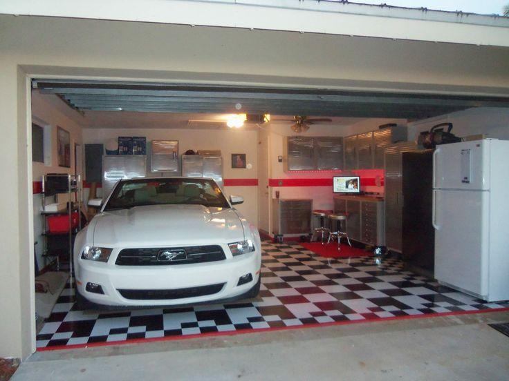 1000 images about black and white tile garage floors on for Cheap white vinyl flooring