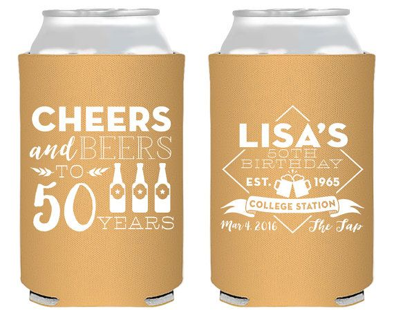 50th Birthday, Cheers to 50 Years Party Favors, Birthday Party Favors, Custom…