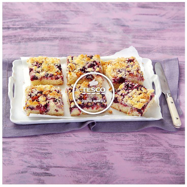 Rybízový koláč s kokosovou drobenkou  http://www.tescorecepty.cz/recepty/detail/137-rybizovy-kolac-s-kokosovou-drobenkou
