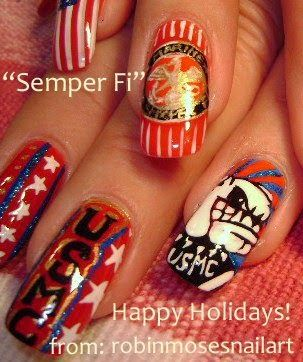 """memorial day nail art"" ""memorial day nails"" ""memorial day design"" memorial day independence ""red white and blue nails"" ""semper fi nail art"" nails ""marine nails"" ""usmc nail art"" ""usmc nails"" ""4th of july nails"" ""robin moses nail art"" how to do it yourself"