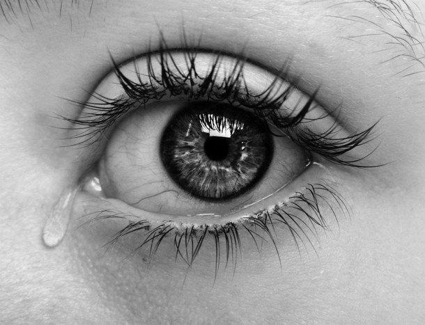 Beautiful Black And White Crying Dark Depressing Eye Eyes Photography Pretty Sad Tears ...