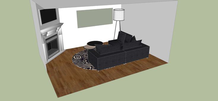SketchUp living room design and layout