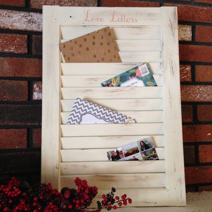 DIY Window Shutter Mail Organizer and January Silhouette Challenge — Weekend Craft