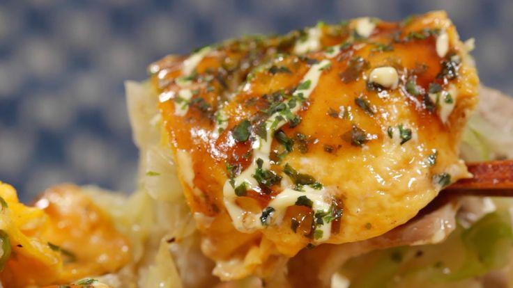 Tonpeiyaki (Easy Okonomiyaki) Recipe とん平焼き 作り方 レシピ (+playlist)