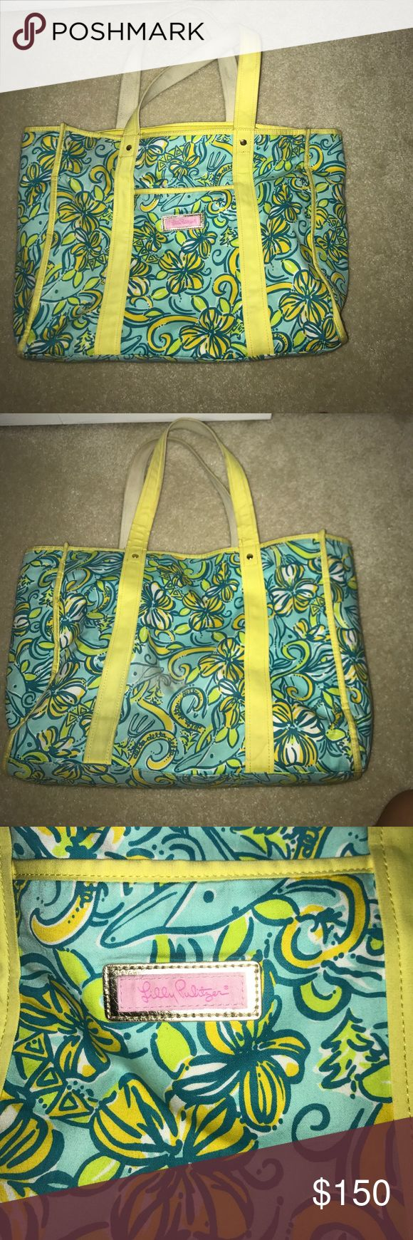 Lilly Pulitzer Tote Bag Lilly Pulitzer sorority collection Tri Delta **DISCONTINUED** Lilly Pulitzer Bags Totes