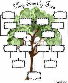 Free family tree chart to complete on your computer and save and print. - © 2002-2013 Kimberly Powell. Licensed to About.com.