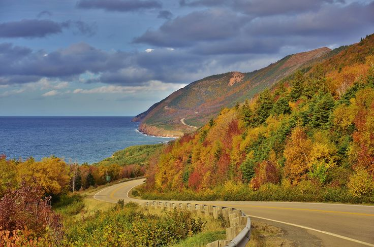 https://flic.kr/p/NsUjpH | Colourful Cabot Trail | More fall foliage along the stretch of road between Cheticamp and Pleasant Bay. There was some minor leaf drop but overall I was pretty impressed given how windy this part of province usually is.