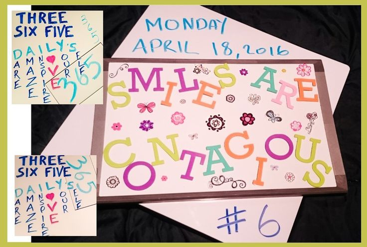 365 DAILY's # 6 - Mon April 18th, 2016  Smiles are contagious :)