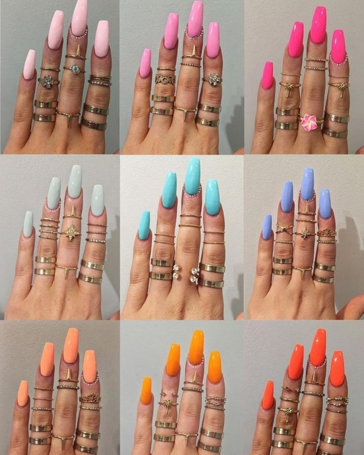 ✔ 25+ coffin acrylic nail ideas with different colors 69 > Fieltro.Net