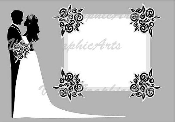 Wedding card. Digital Clipart. Graphic от VectorGraphicArts