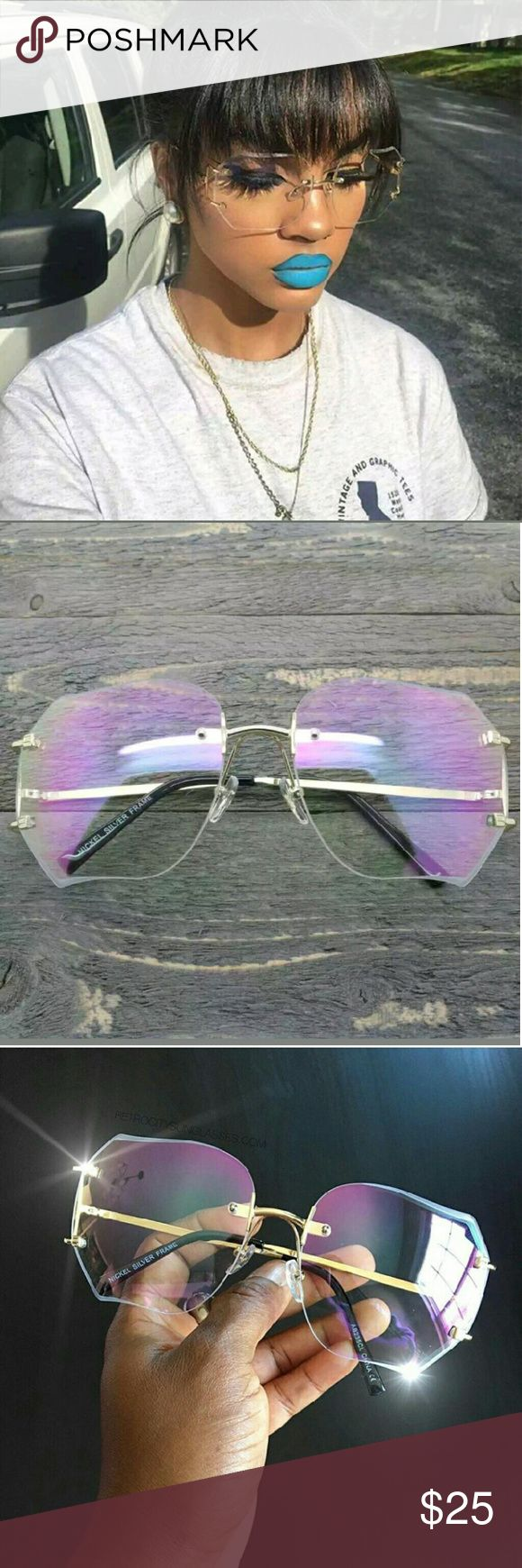 Vintage oversized glasses Vintage clear oversized glasses no brand Accessories Glasses