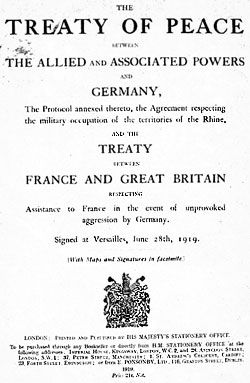 """That is """"peace treaty"""" it ended the war state between Germany and the Allied War Powers."""