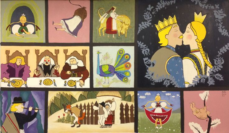 Hungarian Folk Tales Painting   - Eszter Szepesvari, Beata Szepesvarine, Reka Szepesvari