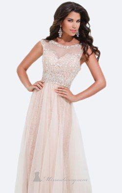 Lace Soft Tulle Gown by Tony Bowls Evenings TBE11415