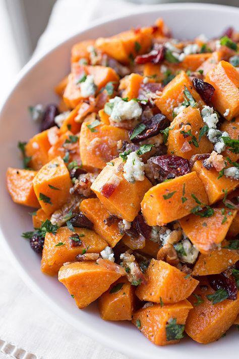Warm Roasted Sweet Potato Salad | thecozyapron.com
