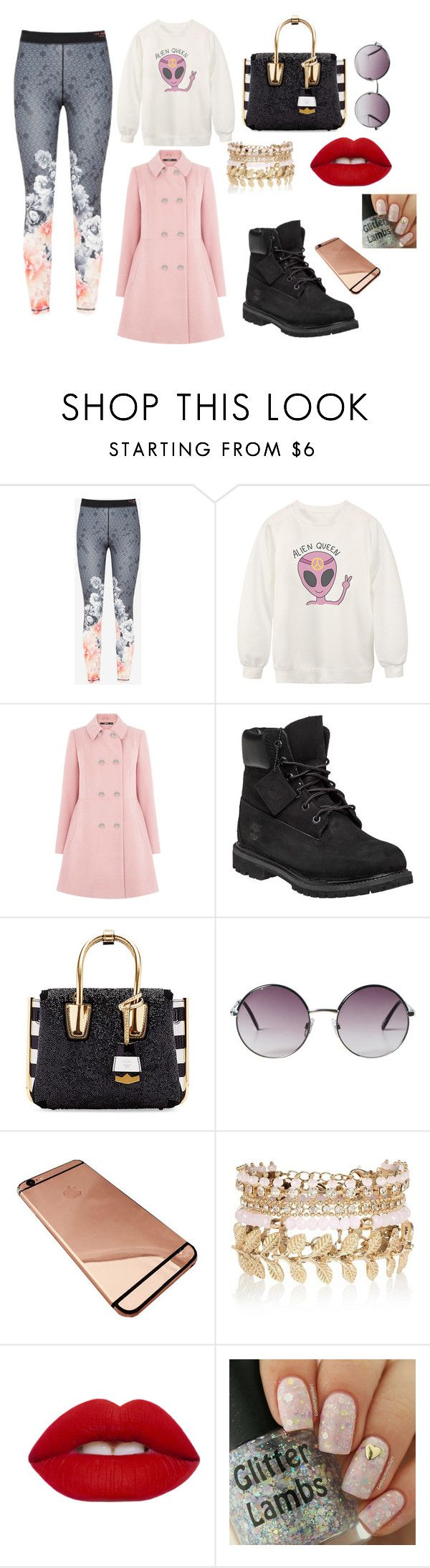 """Cloudy Day"" by red-cristal ❤ liked on Polyvore featuring Ted Baker, Chicnova Fashion, Oasis, Timberland, MCM, Monki, River Island, Lime Crime, women's clothing and women"