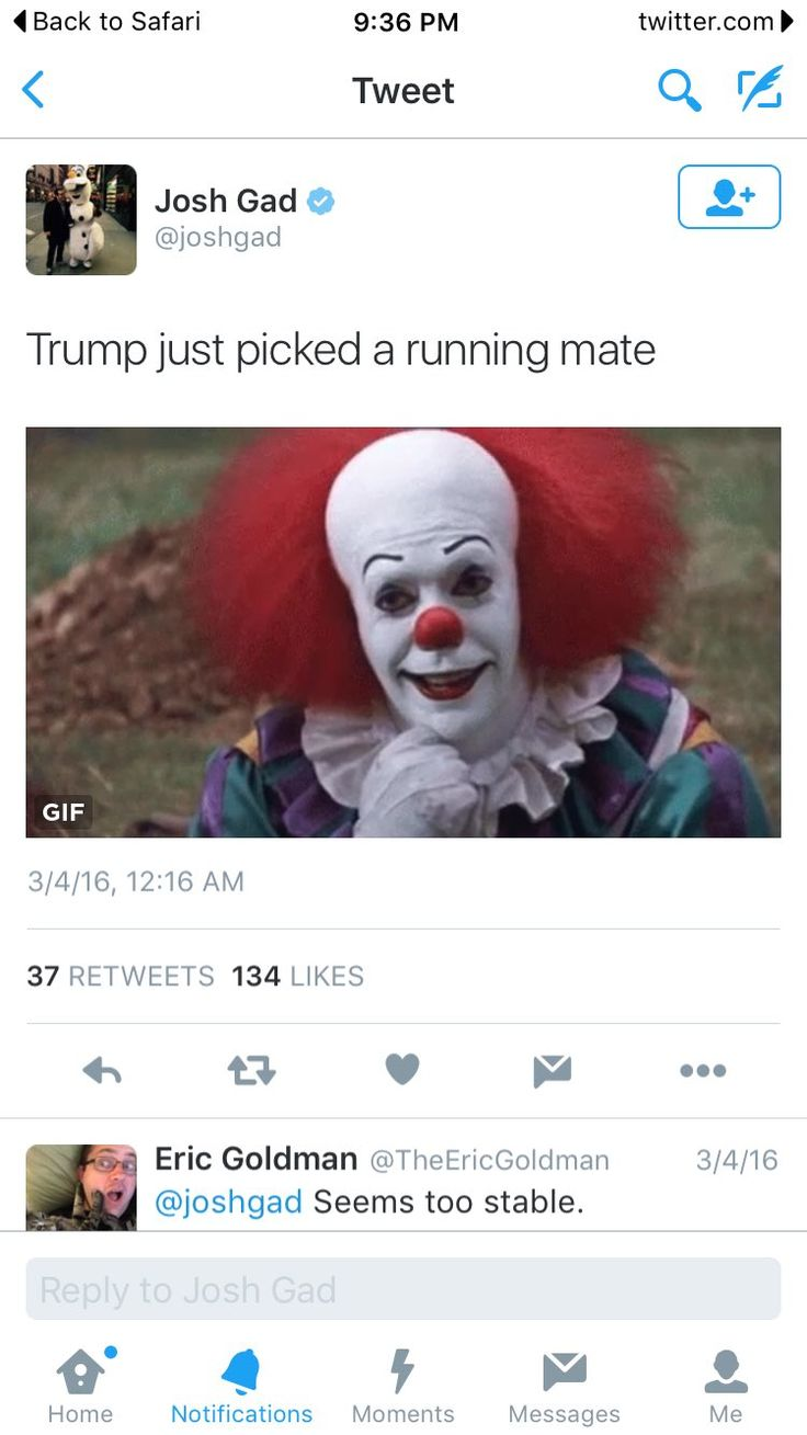 Trump and Pennywise 2016