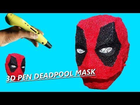 3D printing pen Deadpool mask - YouTube