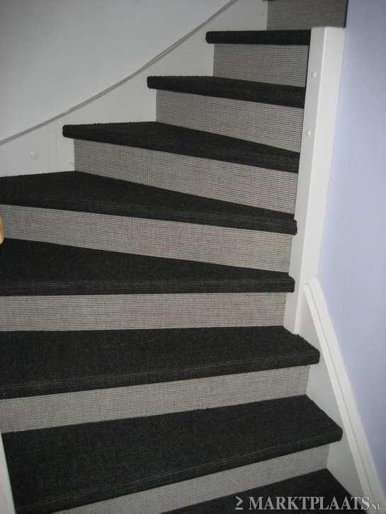 Trap bekleden trappen stoffering sisal tapijt gratis leggen dit moet ik onthouden - Corridor tapijt ...