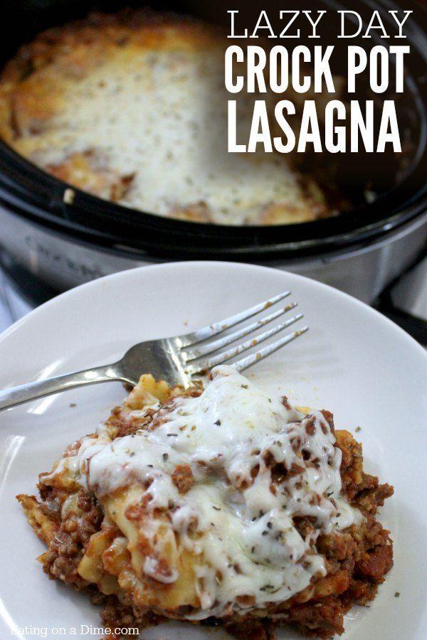 Dit is onze luie dag slijpstofpot lasagne recept.  Je gaat dit leuke twist houden op een traditionele lasagne met dit makkelijk slijpstofpot lasagne recept.