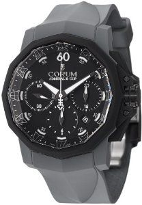Corum Admiral's Cup Challenger 44 Chrono Men's Grey Rubber Strap Automatic Watch 753.819.02/F389 AN21