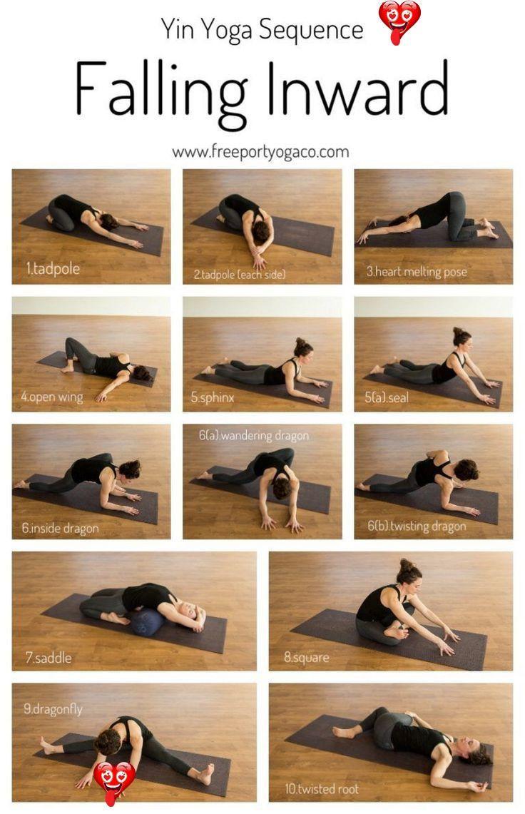 Open Heart Yoga Sequence Infographic Yin Yoga Sequence Falling Inward Freeport Yoga Co Yin Yoga Sequence Yin Yoga Yoga Sequences