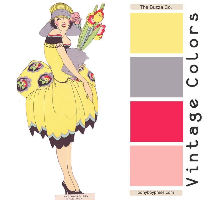 Vintage Color Palettes The Buzzo Co A Vintage Greeting Card Circa 1930 Gorgeous
